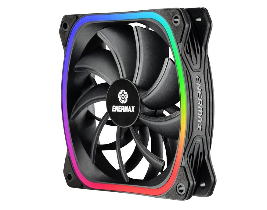 ENERMAX Introduces New Addressable RGB Fan, SquA RGB
