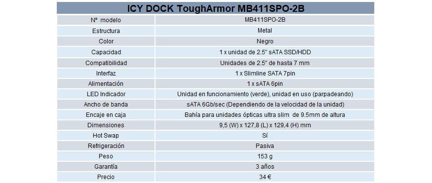 ICY DOCK ToughArmor MB411SPO-2B
