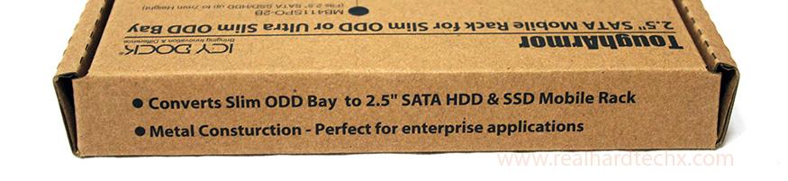 "Rack móvil sATA para unidades 2.5"" SSD/HDD de hasta 7mm en bahía ultra slim CD/DVD ICY DOCK ToughArmor MB411SPO-2B Review"