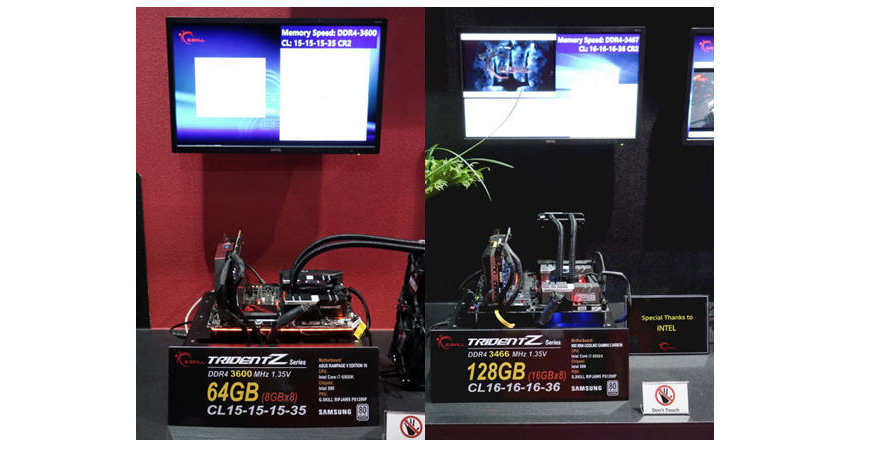 G SKILL Exhibits Extreme Limits of DDR4 Memory on Live Demo Systems